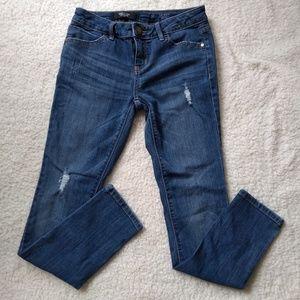 Simply Vera VERA Wang Distressed Skinny Blue Jeans